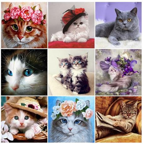 алмазная мозаика кошки