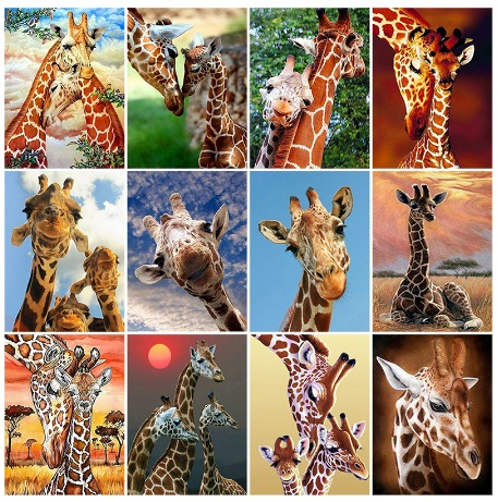 алмазная мозаика - жирафы